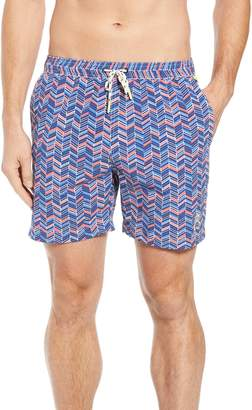 Psycho Bunny Print Swim Trunks