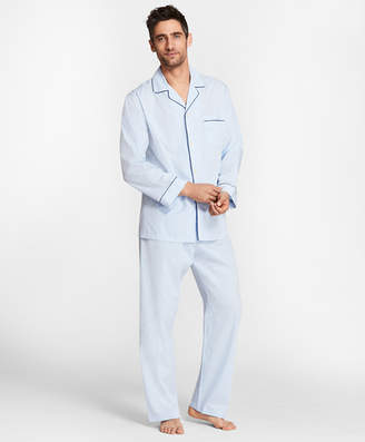 Brooks Brothers Pin-Dot Stripe Pajamas