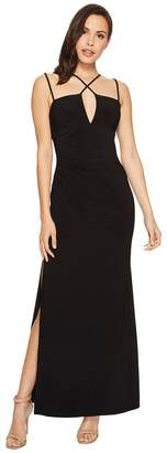 Laundry by Shelli Segal Jersey Crisscross Front Gown Women's Dress