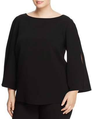 Lafayette 148 New York Plus Candace Slit Bell Sleeve Blouse