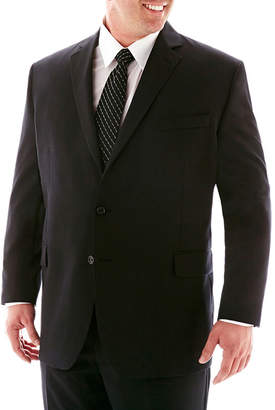 STAFFORD Stafford Super 100 Black Stripe Suit Separates Jacket-Big & Tall
