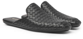 Bottega Veneta Intrecciato Leather Backless Slippers - Men - Black