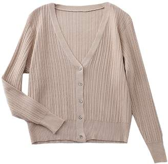 d97c1054053df Goodnight Macaroon  Sara  Lightweight Button Ribbed Knit Cardigan