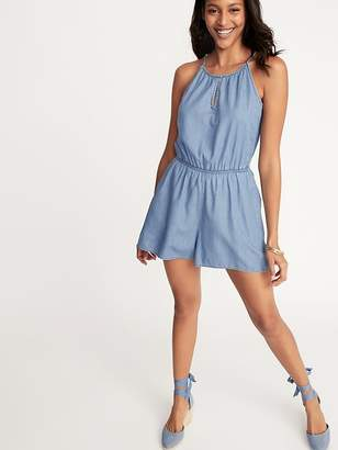 17bf73232c92 Old Navy Chambray Keyhole Romper for Women