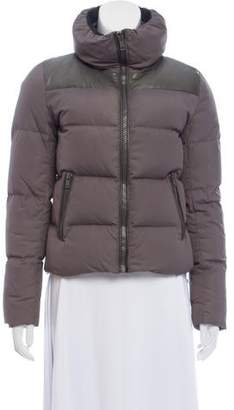 June Leather-Accented Down Jacket