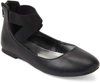 Nina Kids Girls) Black Teena Elastic Strap Ballet Flats