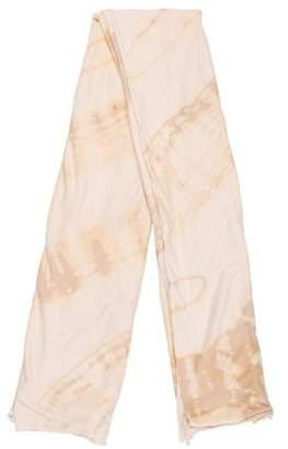 Raquel Allegra Tie-Dye Cotton Scarf