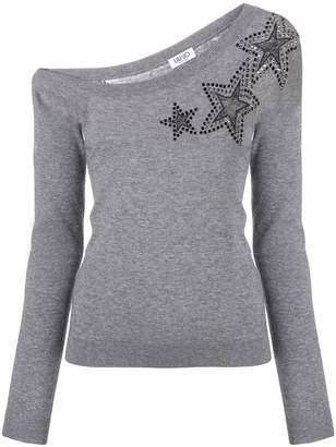Liu Jo star embellished sweater