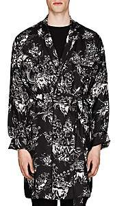 Givenchy Men's Dragon-Sky-Print Silk Robe - Black