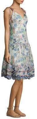 Tommy Hilfiger Cactus Print Silk Midi Slip Dress