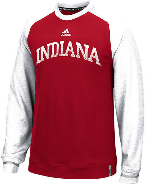 ADIDAS TEAM Men's adidas Indiana Hoosiers College Player Crew Sweatshirt