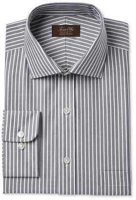 Tasso Elba Men Classic/Regular Fit Non-Iron Twill Bar Stripe Dress Shirt