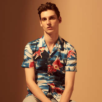 Sandro Hawaiian print short-sleeved shirt