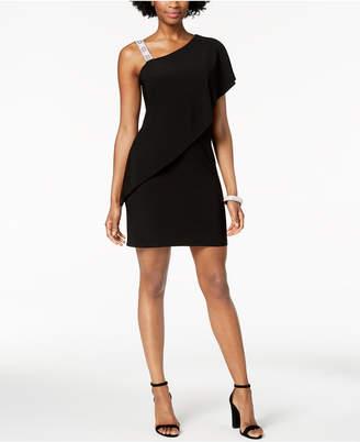 MSK Draped One-Shoulder Dress, Regular & Petite