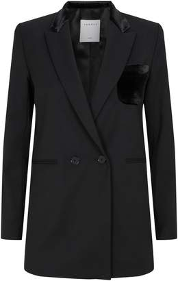 Sandro Velvet Trim Jacket
