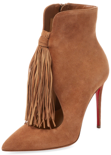 Christian Louboutin Ottocarla Suede Ankle Bootie