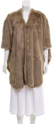 Knee-Length Fur Coat