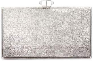 Judith Leiber Tall slender rectangle crystal pavé box clutch