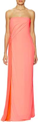 Halston Women's Draped Pleated Evening Gown