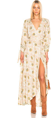 Natalie Martin Danika Long Sleeve Dress in Vintage Flower & Sand | FWRD