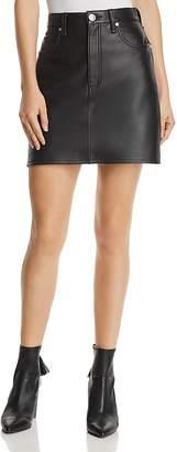 Rag & Bone Moss Leather Mini Skirt