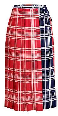 Tommy Hilfiger Tommy Women's Pleated Madras Wrap Skirt