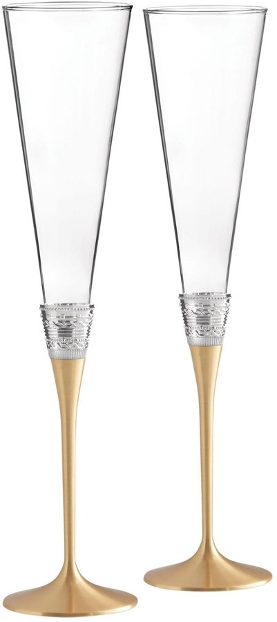 Wedgwood Vera Wang With Love Toasting Flute Pair - Gold - 2 ct