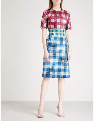 Mary Katrantzou Acacia satin dress