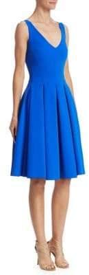 Chiara Boni V-Neck Pleated Cocktail Dress