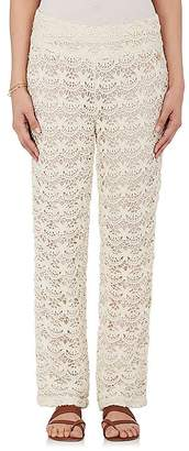 OndadeMar WOMEN'S COTTON GUIPURE LACE PANTS