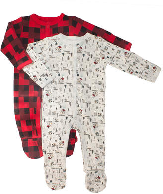 Buffalo David Bitton Rosie Pope Baby Rosie Pope Set Of 2 Woodland Town & Plaid Coveralls