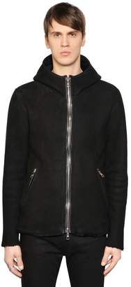 Giorgio Brato Slim Fit Hooded Shearling Jacket