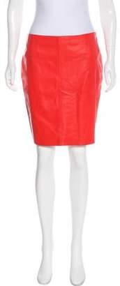 Akris Punto Leather Mini Skirt