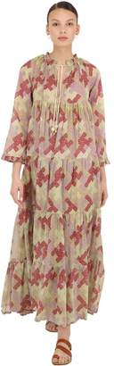 Yvonne S PRINTED COTTON MAXI HIPPY DRESS