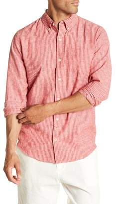 Joe Fresh Stripe Linen Blend Standard Fit Shirt