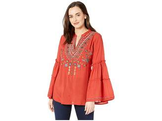 Scully Piper Embroidered Double Tiered Sleeve Tunic