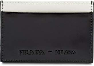 21d9773d31c9 ... uk at farfetch prada brushed leather credit card holder 9dee1 1773a ...