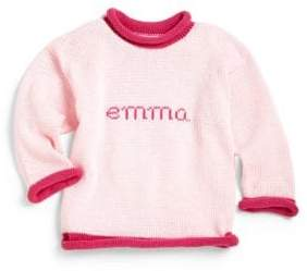 MJK Knits Baby's, Toddler's& Kid's Personalized Classic Cotton Name Sweater
