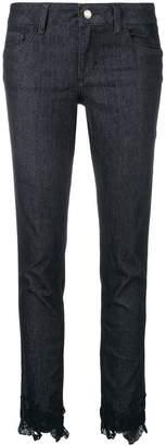 Liu Jo cropped lace detail trousers