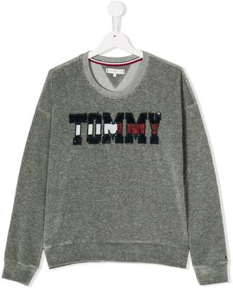 Tommy Hilfiger Junior TEEN embellished branding sweatshirt