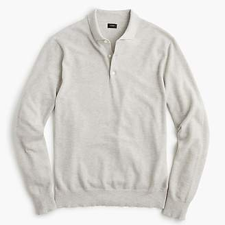 J.Crew Cotton-cashmere piqué polo sweater