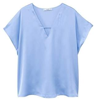 MANGO Satin t-shirt