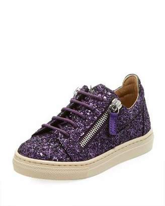 Giuseppe Zanotti Old Glitter Low-Top Sneaker, Toddler/Kid
