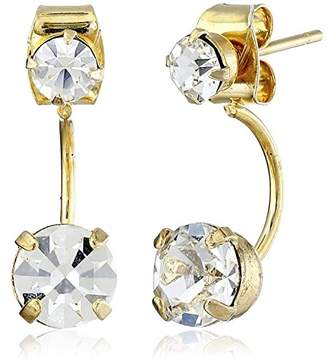 A.V. Max Crystal Front Back Earring Jackets