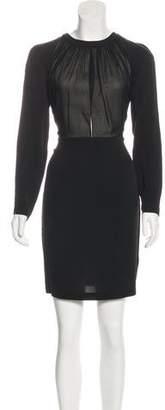 Robert Rodriguez Silk Long Sleeve Mini Dress