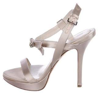 Christian Dior Satin Embellished Sandals