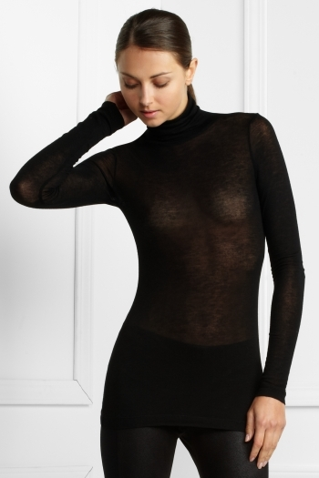 Sculpted Jersey Turtleneck Top