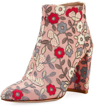 Stuart Weitzman Pure Embroidered 90mm Bootie