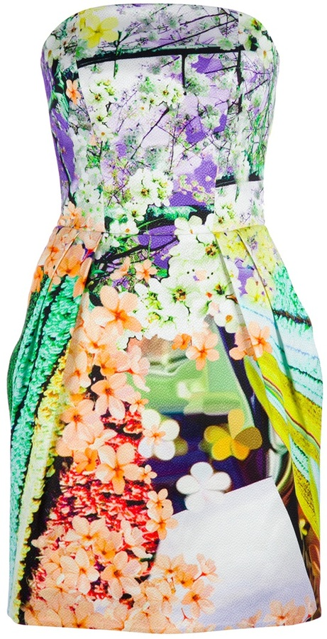 Mary Katrantzou Floral Bustier Dress
