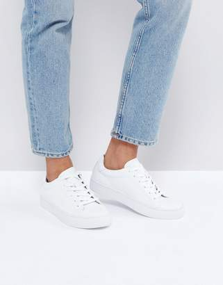 Vagabond Zoe Leather Sneakers In White